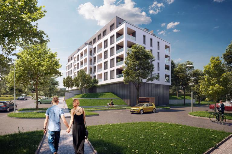 Kaskády Barrandov XV - družstevní byty v lokalitě Prahy 5 - Barrandov