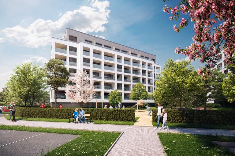 Kaskády Barrandov XIV - družstevní byty v lokalitě Prahy 5 - Barrandov